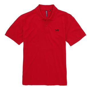 Asquith & Fox Men's Classic Piqué Polo Shirt In Cherry Red