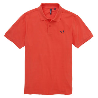 Asquith & Fox Men's Classic Piqué Polo Shirt In Coral