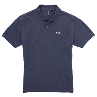 Men's Classic Piqué Polo Shirt In Denim