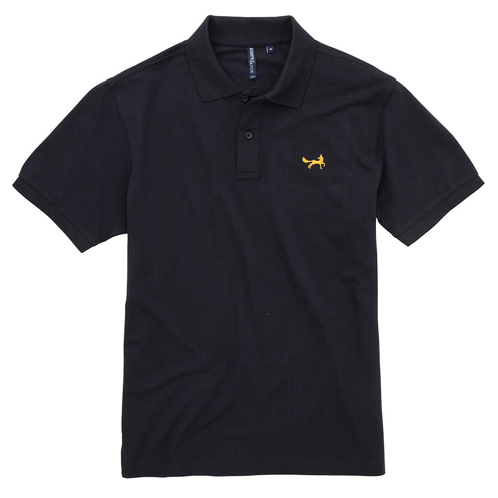 Asquith & Fox Men's Classic Piqué Polo Shirt In French Navy