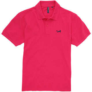 Asquith & Fox Men's Classic Piqué Polo Shirt In Hot Pink