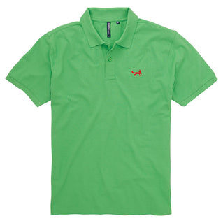 Asquith & Fox Men's Classic Piqué Polo Shirt In Lime