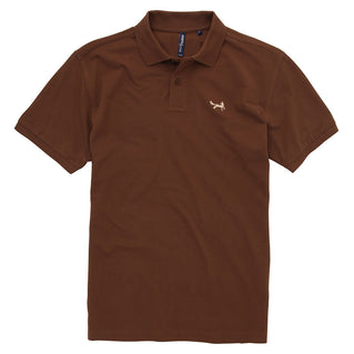Asquith & Fox Men's Classic Piqué Polo Shirt In Milk Chocolate