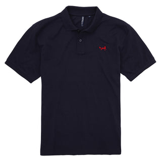 Asquith & Fox Men's Classic Piqué Polo Shirt In Navy