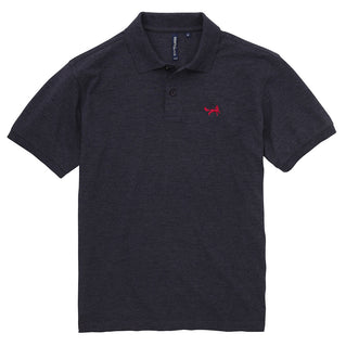 Asquith & Fox Men's Classic Piqué Polo Shirt In Navy Heather
