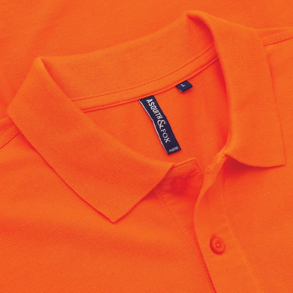 Asquith & Fox Men's Classic Piqué Polo Shirt In Orange