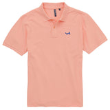 Asquith & Fox Men's Classic Piqué Polo Shirt In Peach