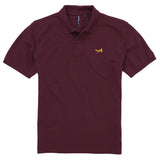 Asquith & Fox Men's Classic Piqué Polo Shirt In Plum