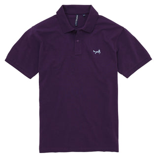 Asquith & Fox Men's Classic Piqué Polo Shirt In Purple