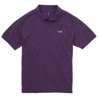 Asquith & Fox Men's Classic Piqué Polo Shirt In Purple Heather