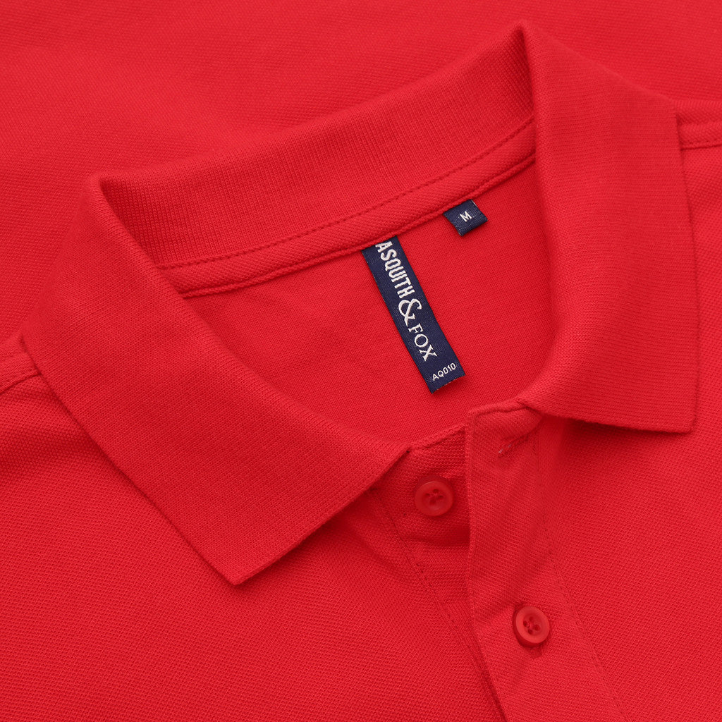 Asquith & Fox Men's Classic Piqué Polo Shirt In Red