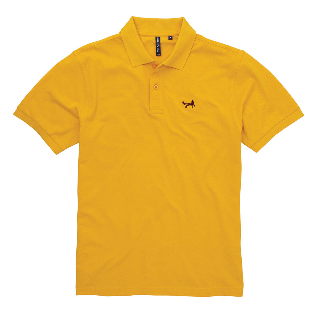 Asquith & Fox Men's Classic Piqué Polo Shirt In Sunflower