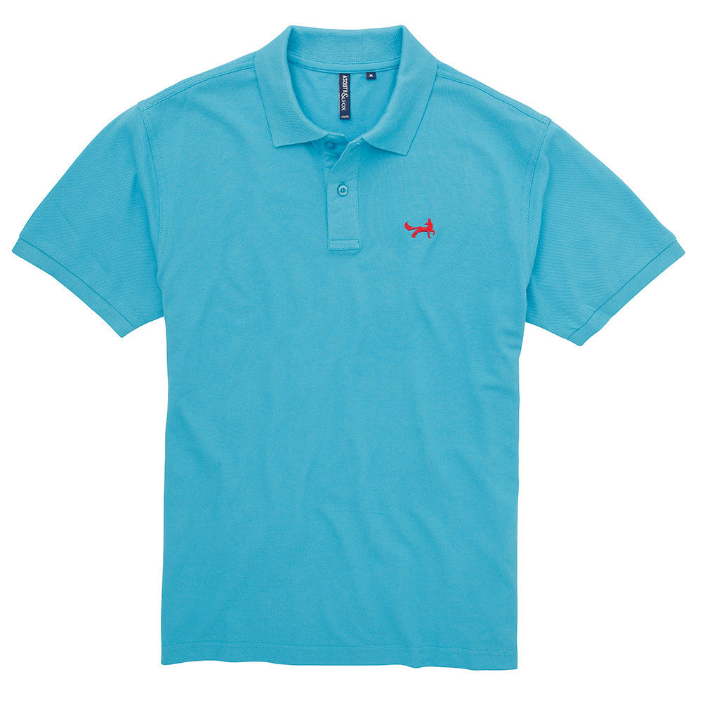 Asquith & Fox Men's Classic Piqué Polo Shirt In Turquoise