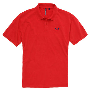 Asquith & Fox Men's Classic Piqué Polo Shirt In Vintage Washed Red