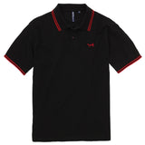 Asquith & Fox Men's Twin Tipped Piqué Polo Shirt In Black and Red
