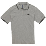 Asquith & Fox Men's Twin Tipped Piqué Polo Shirt In Grey Heather and Black