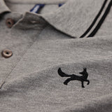 Men's Twin Tipped Piqué Polo Shirt In Grey Heather and Black