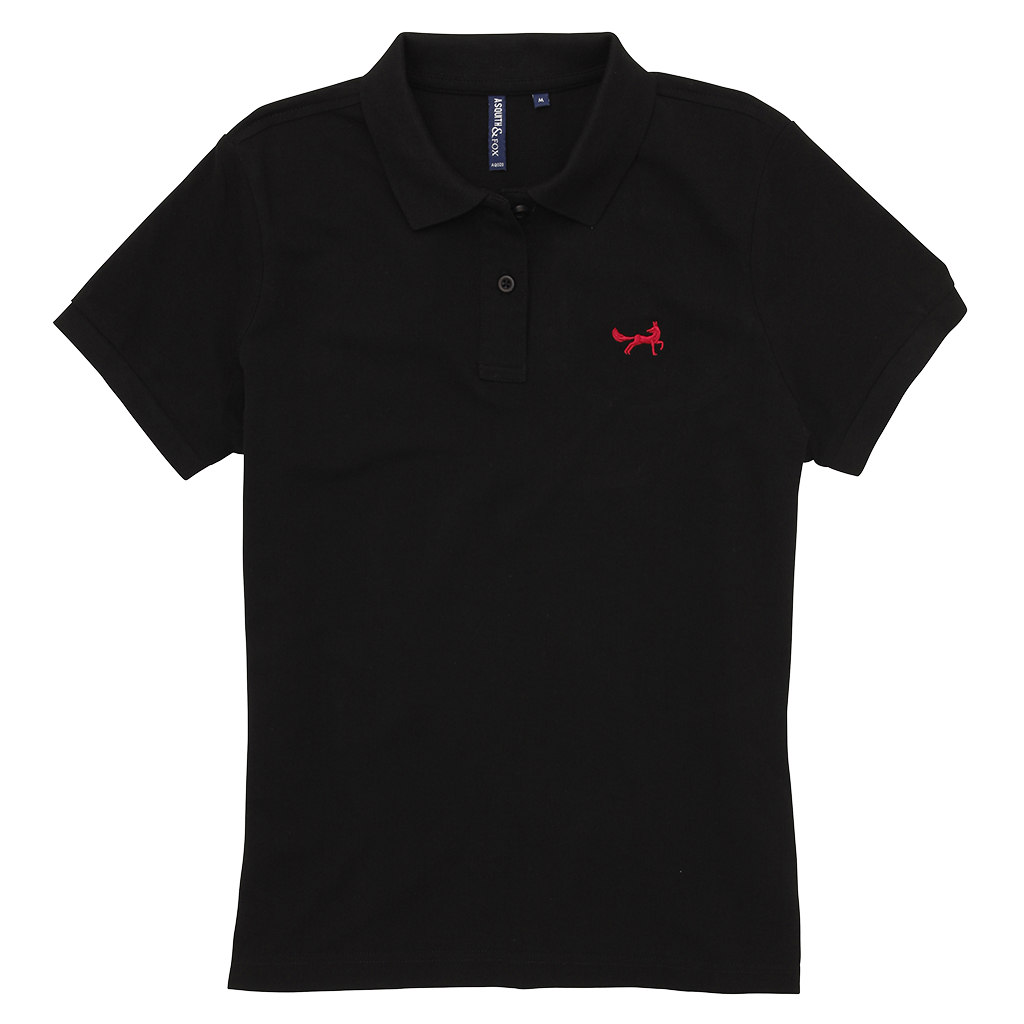 Women's Classic Piqué Polo Shirt In Black