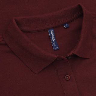 Asquith & Fox Women's Classic Piqué Polo Shirt In Burgundy