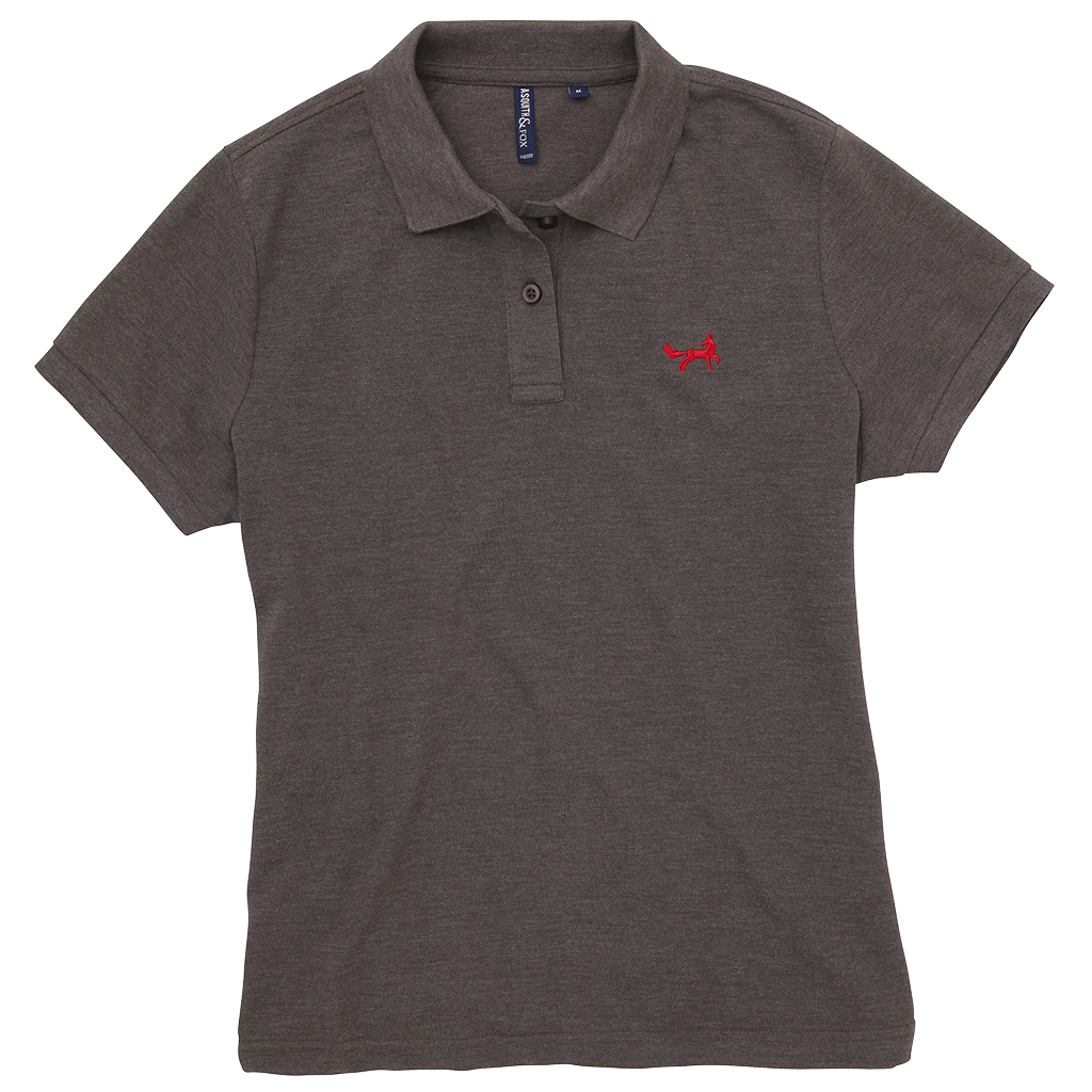 Women's Classic Piqué Polo Shirt In Charcoal