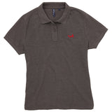 Asquith & Fox Women's Classic Piqué Polo Shirt In Charcoal