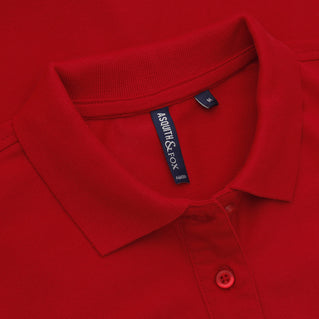 Asquith & Fox Women's Classic Piqué Polo Shirt In Cherry Red