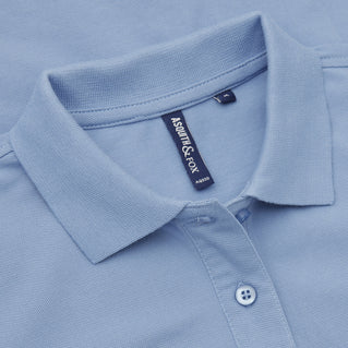 Asquith & Fox Women's Classic Piqué Polo Shirt In Cornflower