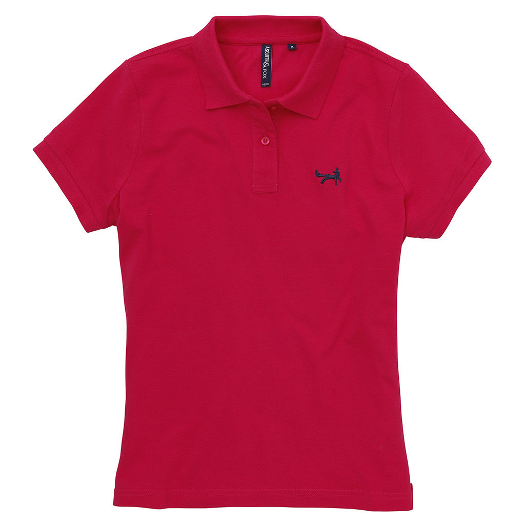 Asquith & Fox Women's Classic Piqué Polo Shirt In Hot Pink