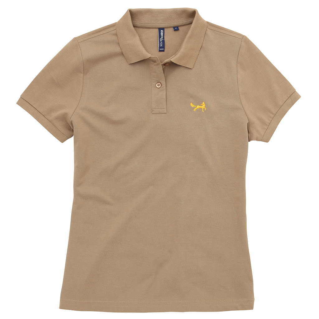 Women's Classic Piqué Polo Shirt In Khaki