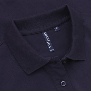 Asquith & Fox Women's Classic Piqué Polo Shirt In Navy