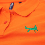 Asquith & Fox Women's Classic Piqué Polo Shirt In Orange
