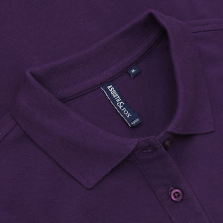 Asquith & Fox Women's Classic Piqué Polo Shirt In Purple