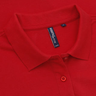 Asquith & Fox Women's Classic Piqué Polo Shirt In Red