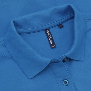 Asquith & Fox Women's Classic Piqué Polo Shirt In Sapphire
