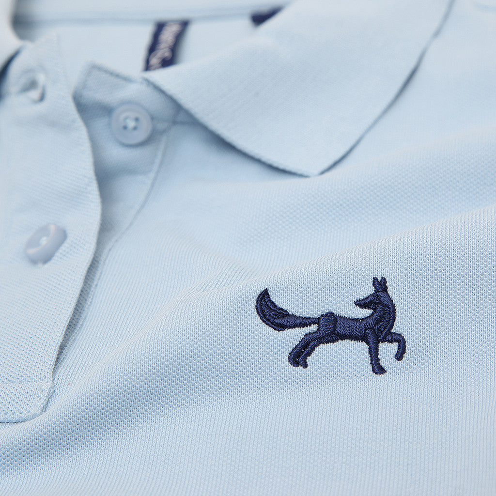 Asquith & Fox Women's Classic Piqué Polo Shirt In Sky