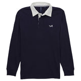 Asquith & Fox Men's Long Sleeved Vintage Rugby Shirt In Navy