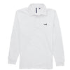 Asquith & Fox Men's Long Sleeved Vintage Rugby Shirt In White