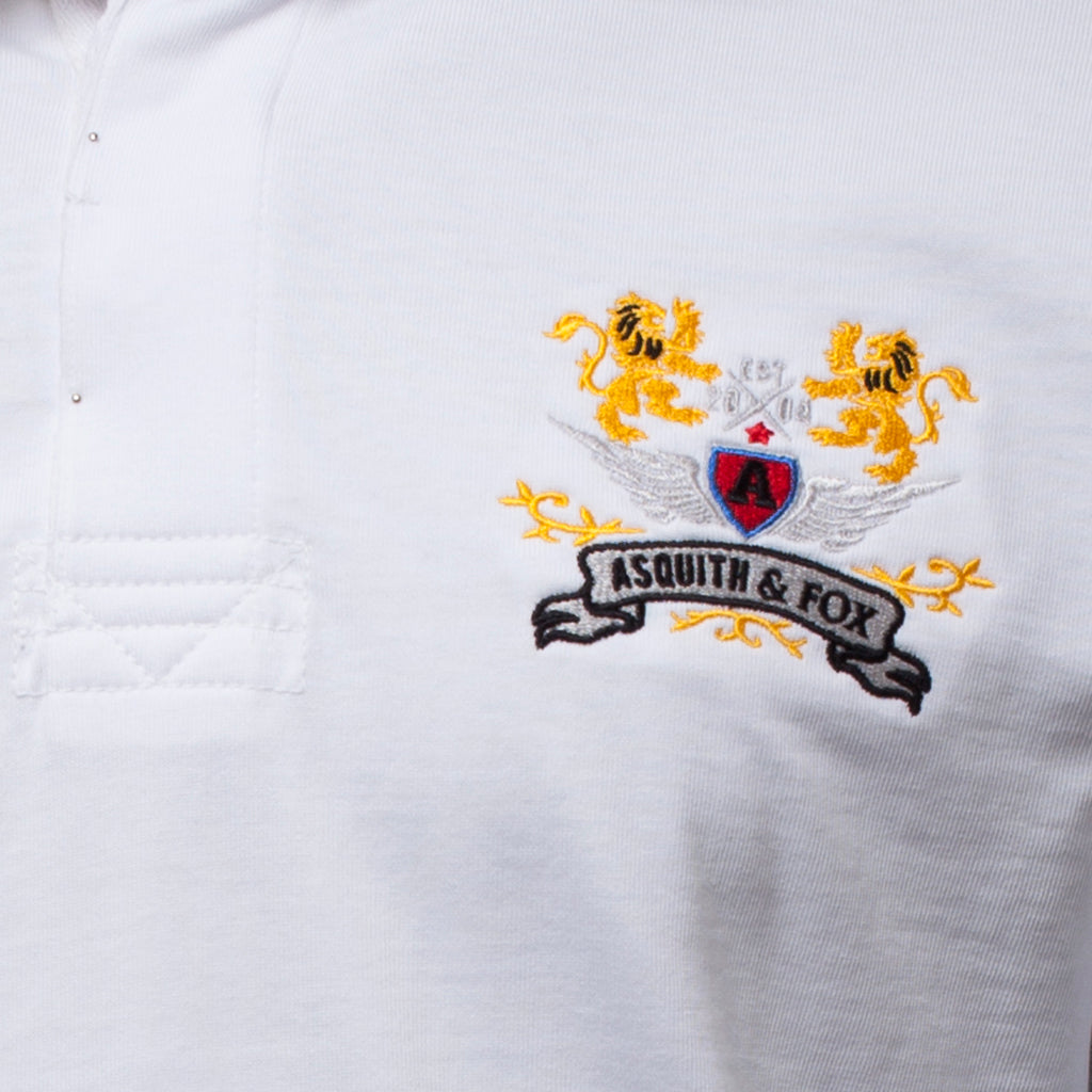 Men's Rugby Shirt In White - The Preppy Collection