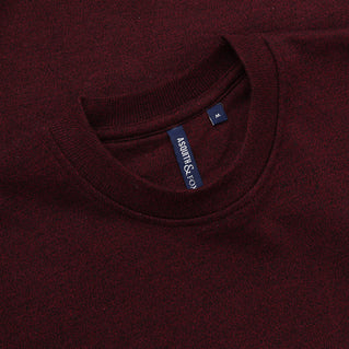 Asquith & Fox Men's Twisted Yarn Sweatshirt In Burgundy and Black
