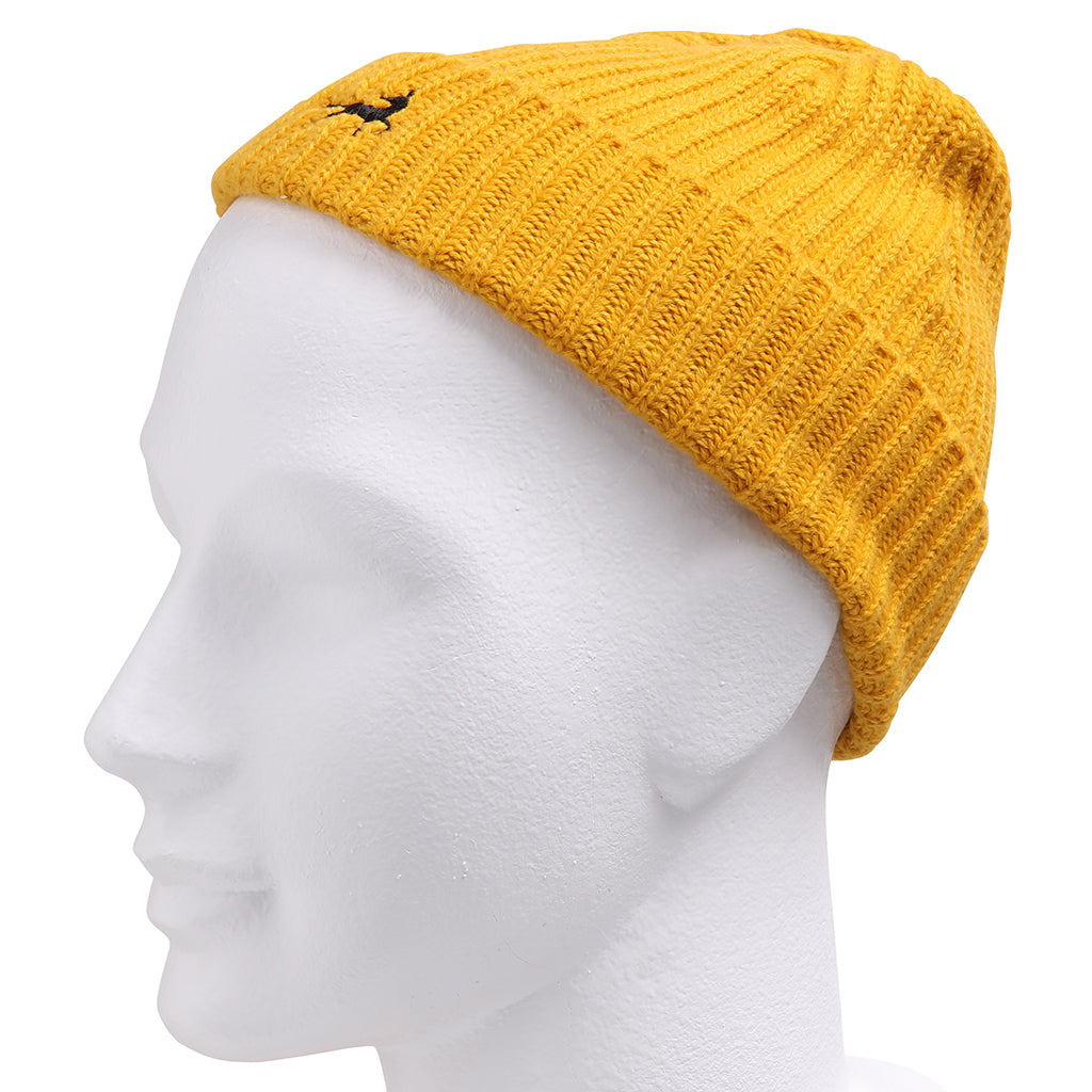 Asquith & Fox Unisex Fisherman Beanie In Mustard Yellow