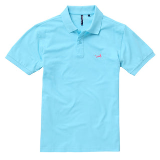Men's Classic Piqué Polo Shirt In Bright Ocean