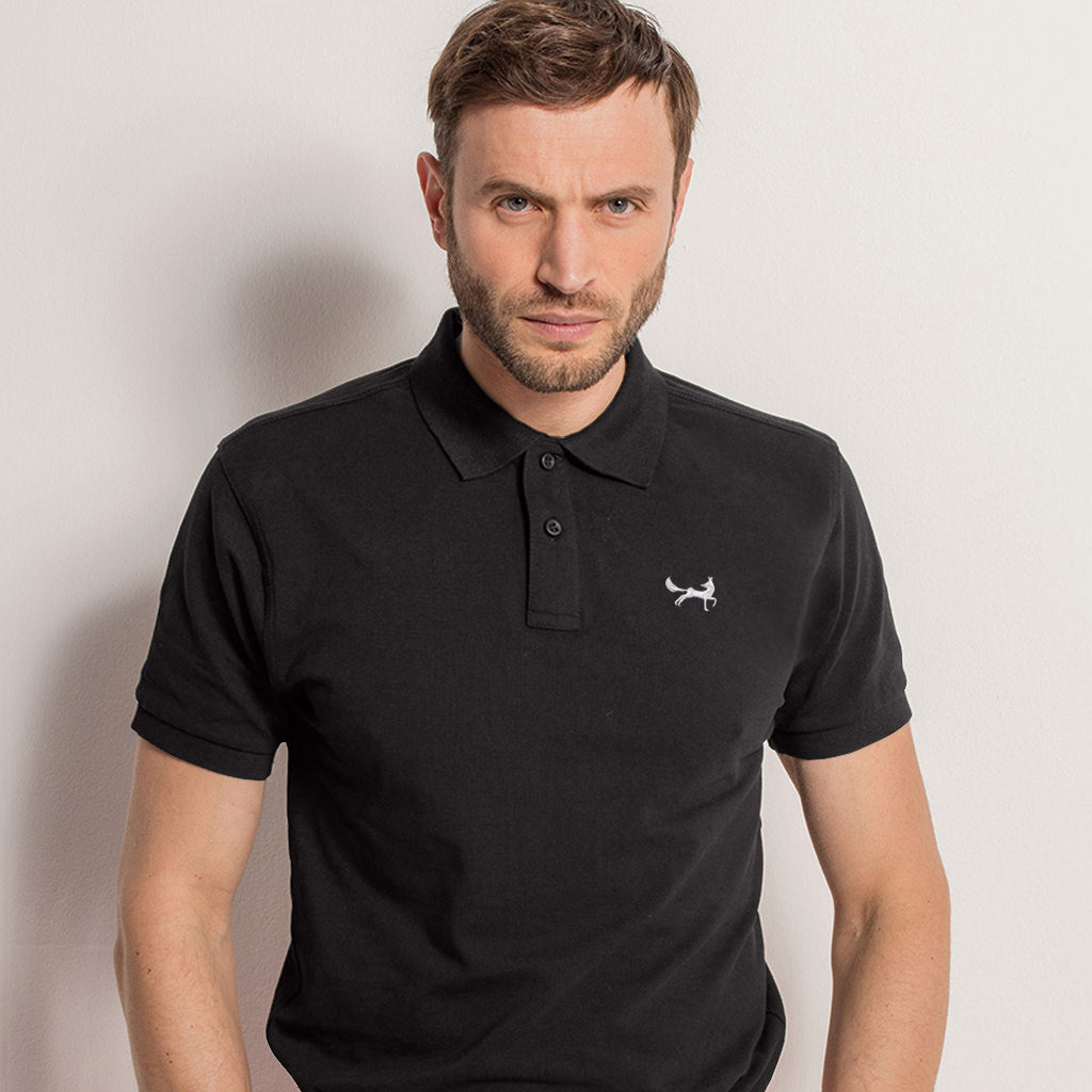 Men's Classic Piqué Polo Shirt In Black Heather