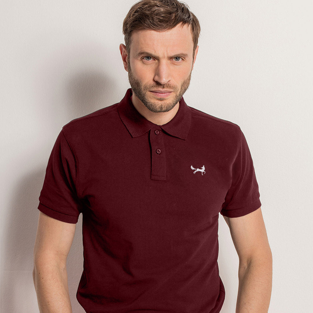 Men's Classic Piqué Polo Shirt In Burgundy