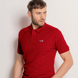 Men's Classic Piqué Polo Shirt In Cardinal Red