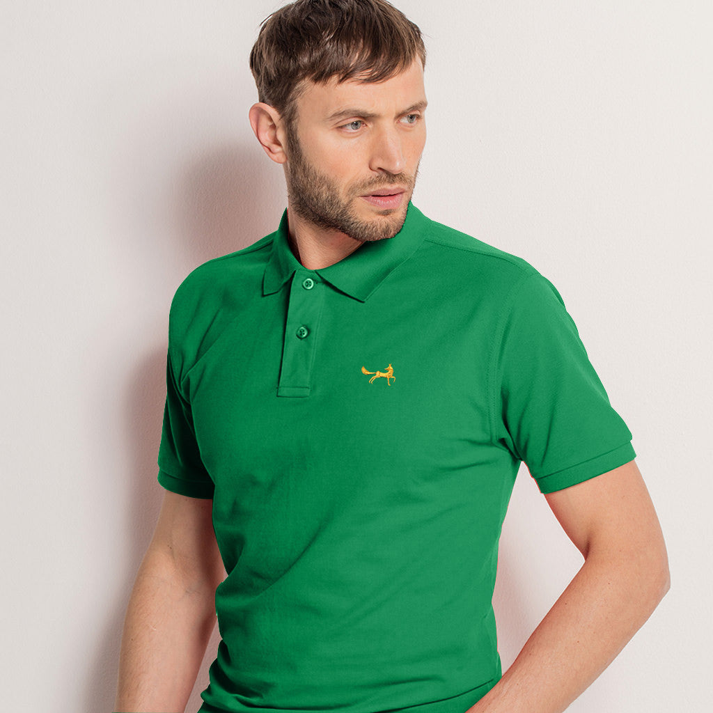 Men's Classic Piqué Polo Shirt In Kelly Heather