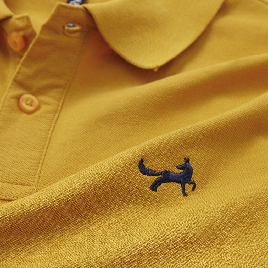 Men's Classic Piqué Polo Shirt In Mustard