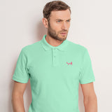Men's Classic Piqué Polo Shirt In Mint