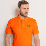 Men's Classic Piqué Polo Shirt In Orange