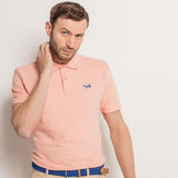 Men's Classic Piqué Polo Shirt In Peach