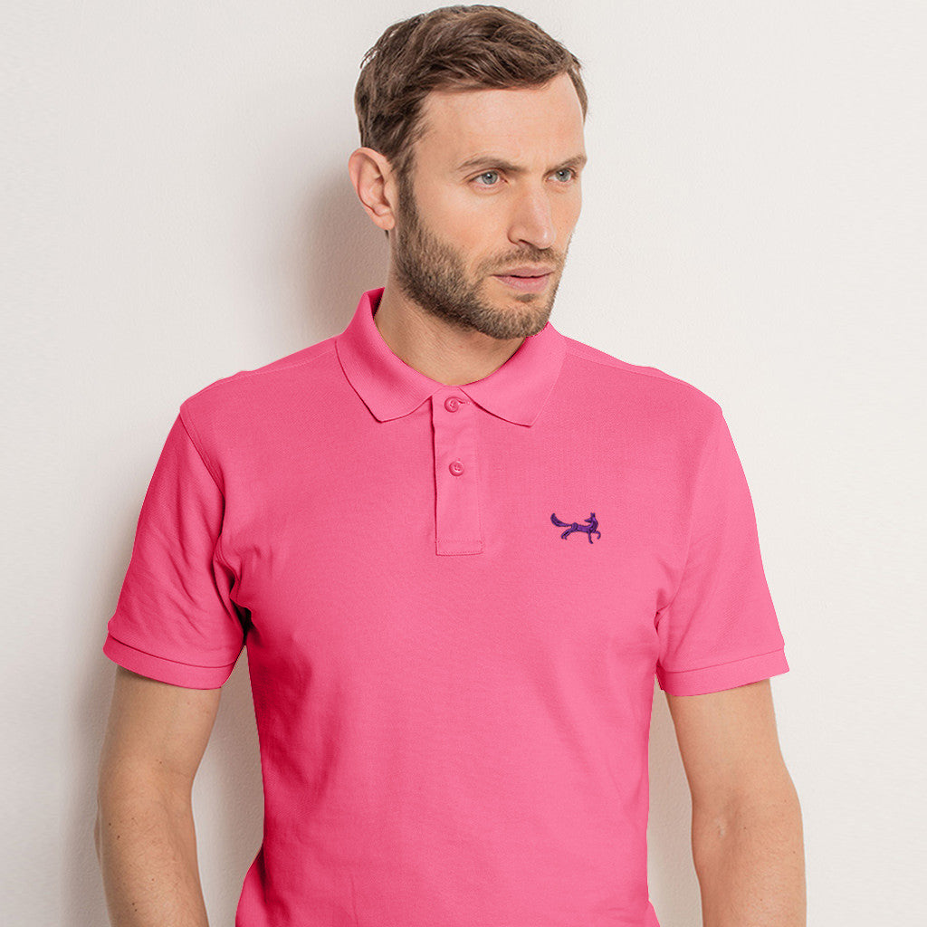Men's Classic Piqué Polo Shirt In Pink Carnation